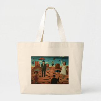 spirits of the flying umbrellas large tote bag