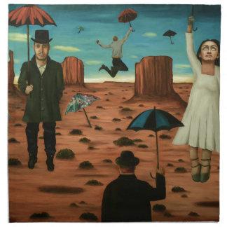 spirits of the flying umbrellas napkin