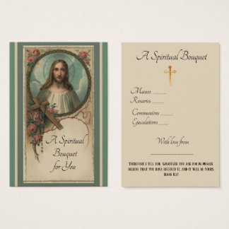 Spiritual Bouquet Prayer Offering Holy Card