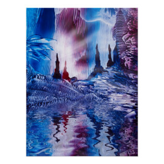 Spiritual cavern of Castles painting in wax Poster