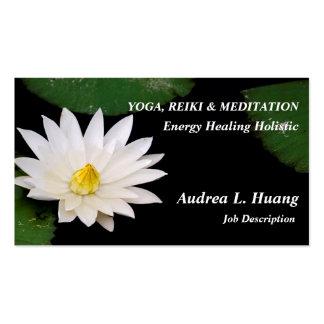 Spiritual Expansion / Pure White Pond Lotus Business Card Templates