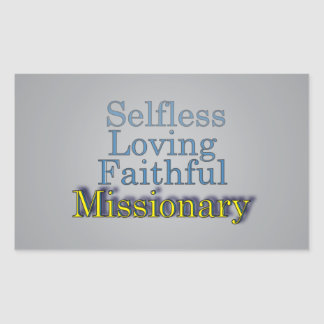 Spiritual Faithful Missionary Rectangular Sticker