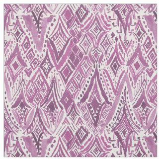 SPIRITUAL FRIGGIN DIAMONDS Purple Tribal Ikat Fabric