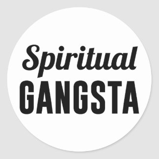 Spiritual Gangsta Classic Round Sticker