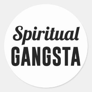 Spiritual Gangsta Round Sticker