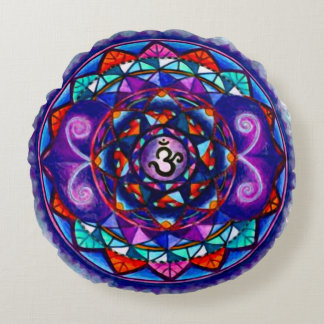 Spiritual Gravity Mandala Custom Round Pillow