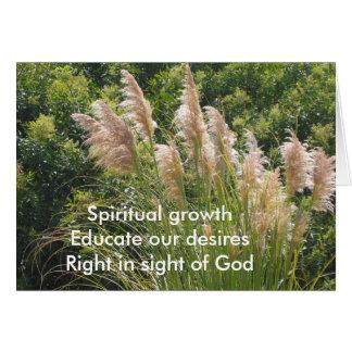 Spiritual Growth Haiku Card