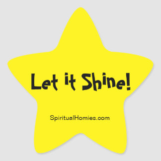 "Spiritual Homies - ""Let it Shine"" star sticker"