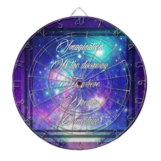 Spiritual Inspirational Dreams Come True Quote Dartboard