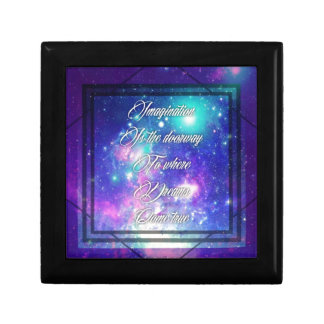 Spiritual Inspirational Dreams Come True Quote Small Square Gift Box