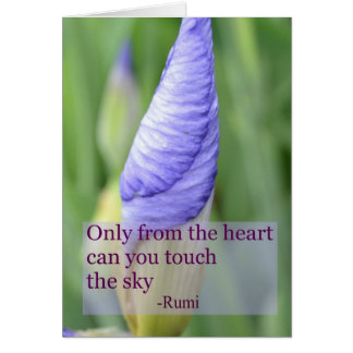 Spiritual Iris Inspirational Rumi Quote Card
