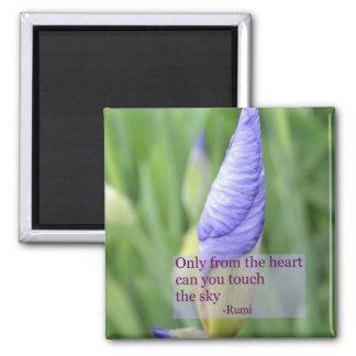 Spiritual Iris Inspirational Rumi Quote Magnet