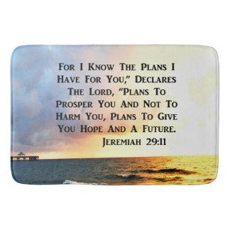 SPIRITUAL JEREMIAH 29:11 OCEAN DESIGN BATH MAT