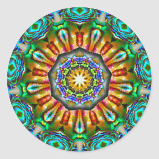 Spiritual Jewelry Fractal Classic Round Sticker