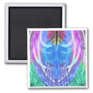 Spiritual Journey - HIS words provide LADDER Square Magnet