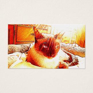 Spiritual Light Cat Business Card
