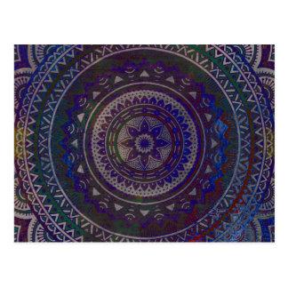 Spiritual mandala postcard
