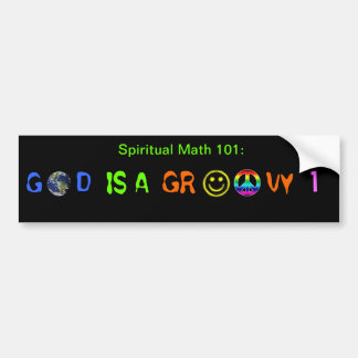 spiritual math 101-14hb bumper sticker