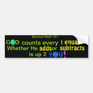 spiritual math 101-31hb bumper sticker