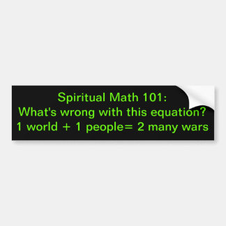 spiritual math 101-35b bumper sticker