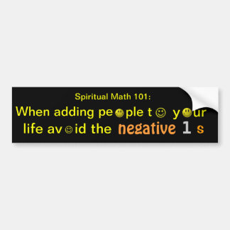 spiritual math 101-9hb bumper sticker