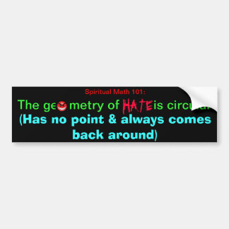 spiritual math 101 bumper sticker