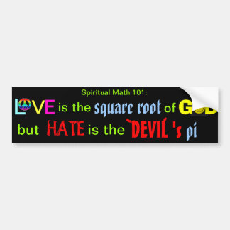spiritual math 101- bumper sticker