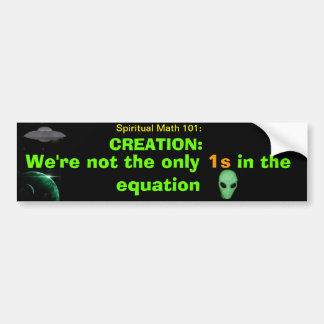 spiritual math 101 bumper stickers
