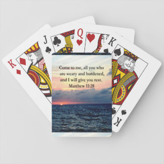 SPIRITUAL MATTHEW 11:28 SUNRISE SCRIPTURE PHOTO PLAYING CARDS