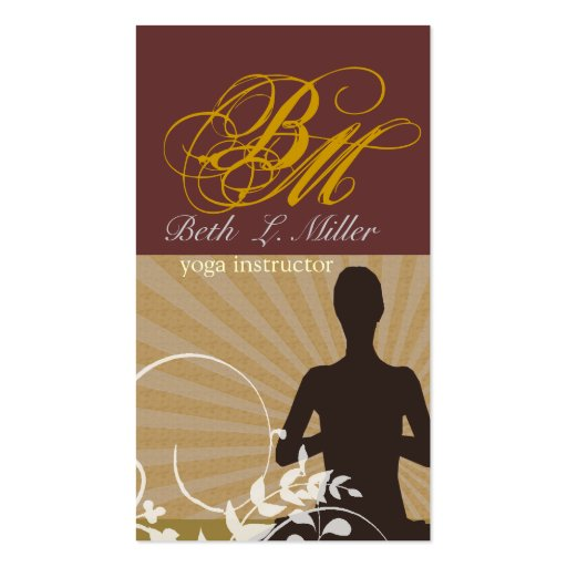 Spiritual Meditation Yoga  Instructor Business Card Templates