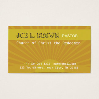 Spiritual Meditative Sunshine Modern Business Card