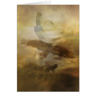 Spiritual Metaphysical South Western Sympathy Card