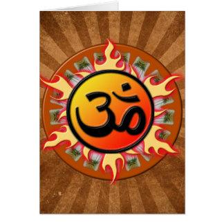 Spiritual Om Card