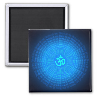 Spiritual Om Design Square Magnet