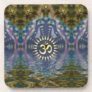 Spiritual Om Fractal Chakra Art Six Drink Coaster