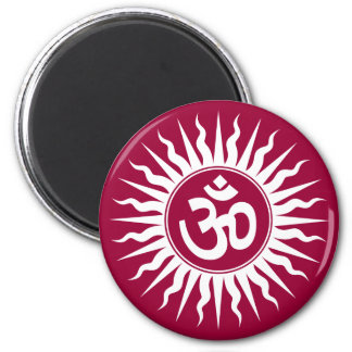 Spiritual Om 6 Cm Round Magnet