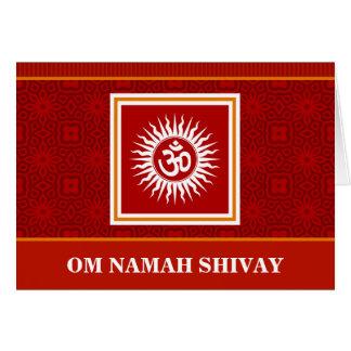 Spiritual Om Sign Card