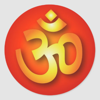 Spiritual Om Sign Classic Round Sticker