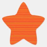 Spiritual Orange : Add GREETING Text or buy plain Star Stickers