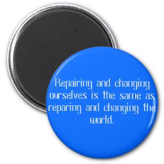 spiritual practice 6 cm round magnet
