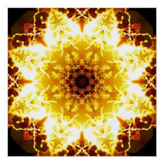 Spiritual Sunlight Mandala Poster