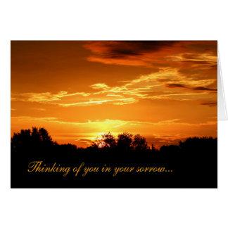 Spiritual sympathy card
