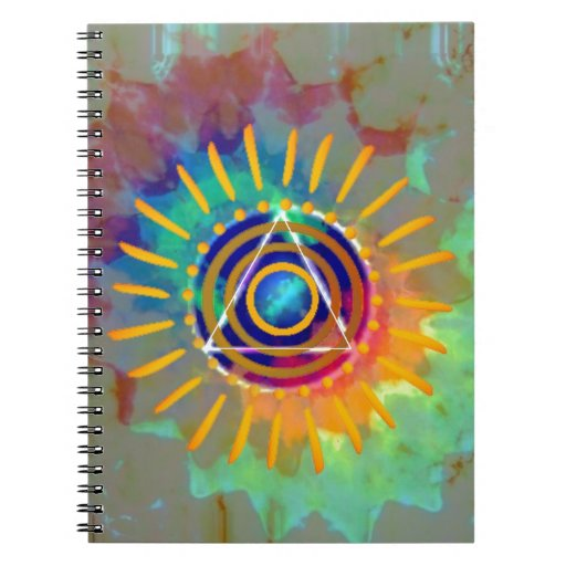 Spiritual Tyedye Spiral Note Books
