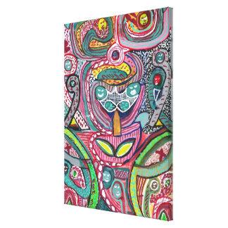 Spiritual Wandering Monkey: Artistic SPERMOLOGY Canvas Print