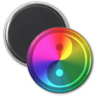Spiritual Yin Yang - Rainbow Design Magnet
