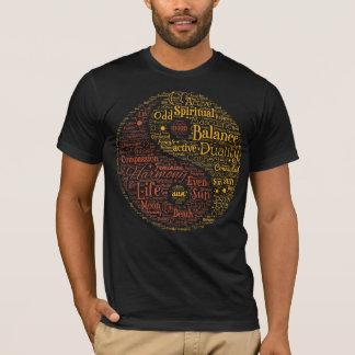Spiritual Yin Yang Word Art T-Shirt