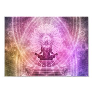 Spiritual Yoga Meditation Zen Colorful Card
