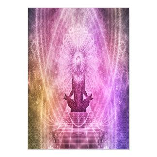 Spiritual Yoga Meditation Zen Colorful Magnetic Card