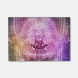 Spiritual Yoga Meditation Zen Colorful Post-it Notes