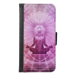 Spiritual Yoga Meditation Zen Colorful Samsung Galaxy S6 Wallet Case